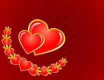 St. Coração do Valentim Fotos de Stock Royalty Free
