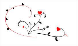 St. Corações do Valentim Fotografia de Stock Royalty Free