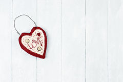 St Corazón de la tarjeta del día de San Valentín Imagenes de archivo