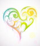 St. Corazón-dimensión de una variable del día del `s de la tarjeta del día de San Valentín Fotos de archivo