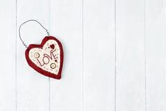 St Corazón de la tarjeta del día de San Valentín Imágenes de archivo libres de regalías