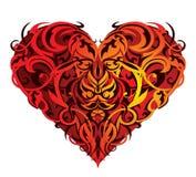 St. Corazón-dimensión de una variable de la tarjeta del día de San Valentín Imagen de archivo libre de regalías