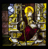 St Cornelius stained glass Stock Photo