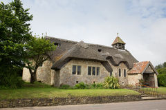 St couvert de chaume Agnes Freshwater Bay Isle d'église de Wight images libres de droits