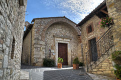 St. Cristoforo Church. Corciano. Umbria. Stock Photography