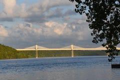 St Croix Crossing av en exfradosed bro royaltyfria foton
