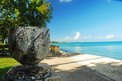 St. Croix Downtown Frederiksted Boardwalk Royalty Free Stock Images