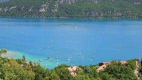 St Croix jezioro, Les Wąwóz Du Verdon, Provence, Francja zdjęcie wideo