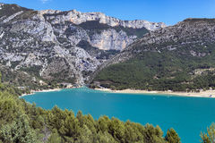 St Croix Lake, Les Gorges du Verdon, France. St Croix Lake, Les Gorges du Verdon, Provence, France Stock Photos