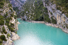 St Croix Lake, Les Gorges du Verdon in Provence Royalty Free Stock Image
