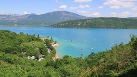 St Croix Lake, Les Gorges du Verdon, Provence, France banque de vidéos