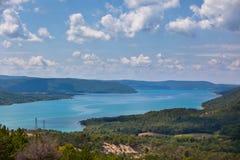 St croix lake les gorges du verdon provence france Royalty Free Stock Images