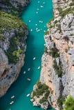 St croix lake les gorges du verdon provence france Royalty Free Stock Photo