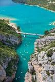 St croix lake les gorges du verdon provence france Royalty Free Stock Photography