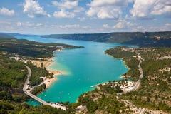 St croix lake les gorges du verdon provence france Royalty Free Stock Image