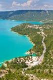 St croix lake les gorges du verdon provence france Royalty Free Stock Photos
