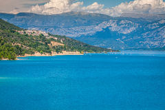 St. Croix Lake, Les Gorges du Verdon, Provence, Frankreich Lizenzfreies Stockfoto