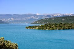 St. Croix Lake. Verdon Gorge and St. Croix Lake, Provence, France Royalty Free Stock Images