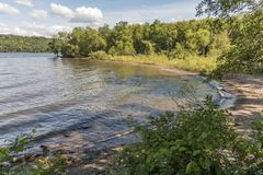 St Croix River Beach. A St. Croix River beach in Minnesota Royalty Free Stock Image