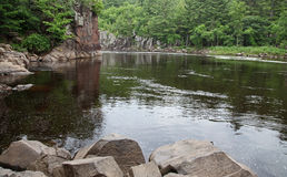 St Croix River kromming Royalty-vrije Stock Foto
