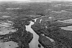 St Croix River Valley. The St.Croix RIver Valley viewed from the air Royalty Free Stock Photography