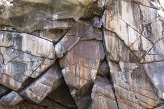 St Croix Stone 2. A wall of stone in Taylors Falls, Minnesota Stock Image