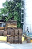 St croix us virgin islands cruzan rum barrels stock photos