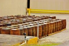 St croix usvi cruzan rum distillery  barrels Stock Photos