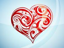 St Cuore-figura di giorno del `s del biglietto di S. Valentino illustrazione di stock