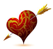 St Cuore-figura di giorno del `s del biglietto di S. Valentino illustrazione vettoriale