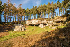 St Cuthbert's Cave on a sunny day Royalty Free Stock Images