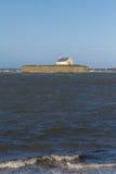 St Cwyfan's, kyrkan i havet Royaltyfria Foton