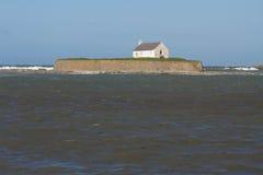 St Cwyfan's, kyrkan i havet Royaltyfri Fotografi
