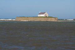 St Cwyfan's, The Church in the Sea. Royalty Free Stock Photography