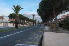 St Cyprien, Languedoc-Roussillon, Frankrijk stock afbeelding