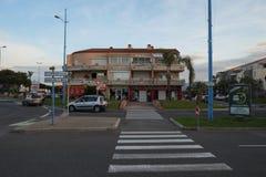 St Cyprien, Languedoc-Roussillon, Frankrijk stock afbeeldingen
