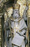 Saint Cyril. St. Cyril, altar of St. Cyril and Methodius in Zagreb cathedral dedicated to the Assumption of Mary Royalty Free Stock Photos