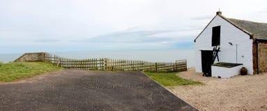 St Cyrus Beach, Schotland royalty-vrije stock afbeelding