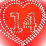 St. Día de tarjeta del día de San Valentín Imagenes de archivo
