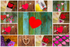 St Día de tarjeta del día de San Valentín Fotografía de archivo