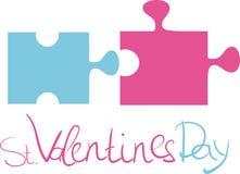 St. Día de tarjetas del día de San Valentín Foto de archivo libre de regalías