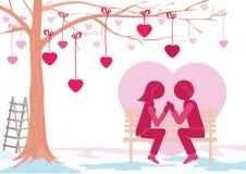 St. día de tarjetas del día de San Valentín ilustración del vector