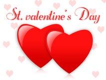 St. Día de tarjetas del día de San Valentín Imagen de archivo libre de regalías
