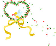 St. Día de tarjetas del día de San Valentín - la guirnalda del corazón Fotografía de archivo libre de regalías