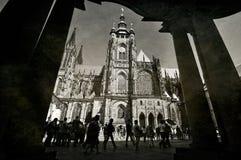 St d'annata Vitus Cathedral di Praga Fotografia Stock
