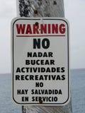 St d'avertissement espagnol Croix de connexion Photos libres de droits