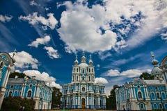 St. da catedral de Smolny - Petersburgo Fotos de Stock Royalty Free