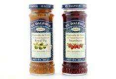 St Dalfour 100 percenten smeerbaar fruit behoudt Stock Afbeeldingen
