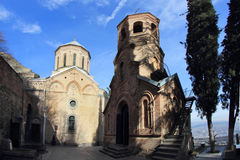 St. David's Church and Monastery in Tbilisi, Georgia Stock Photos
