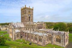St David Kathedrale, Wales Stockbilder